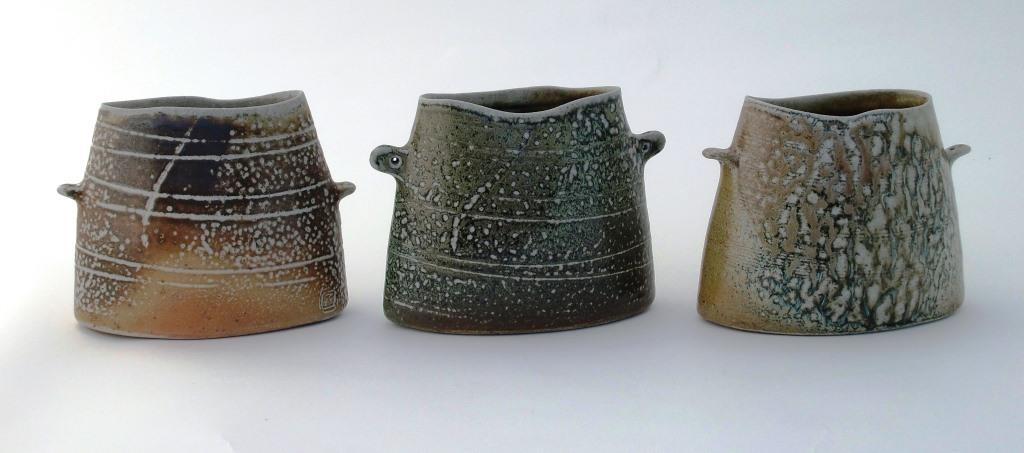 Mandy Parslow, wheel thrown and altered wood fired salt glazed stoneware ceramics. Glen of Aherlow, Co. Tipperary, Ireland